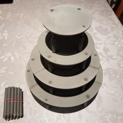 Emeletes torta rejtett váz